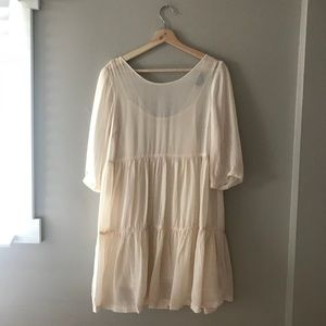 Top shop flowy tiered dress
